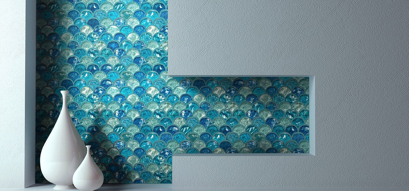 Try oasis blue fan iridescent glass mosaic tile for your backsplash try oasis blue fan iridescent glass mosaic tile for your backsplash tile foshan imark building materials co ltd dailygadgetfo Image collections
